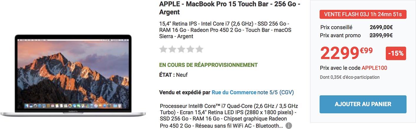 MacBook Pro 2016 Rue du Commerce