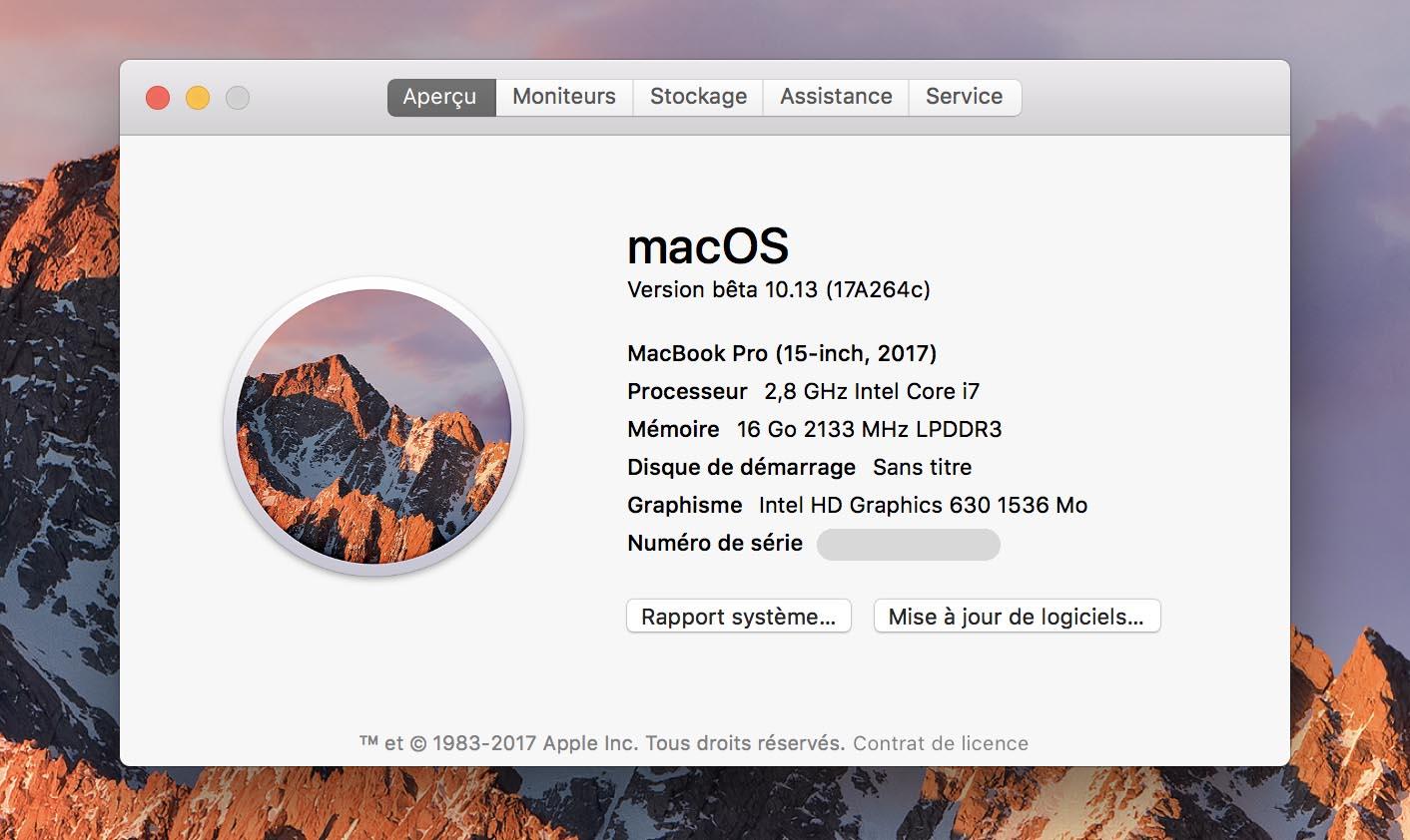 MacBook Pro 2015 À propos