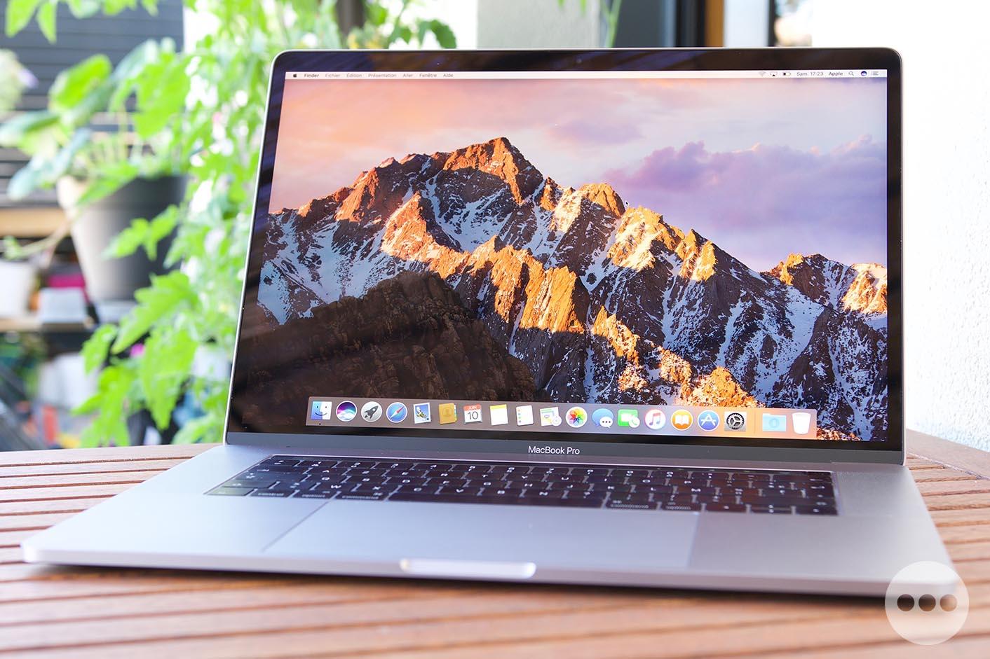 Test MacBook Pro 15,4 pouces 2017