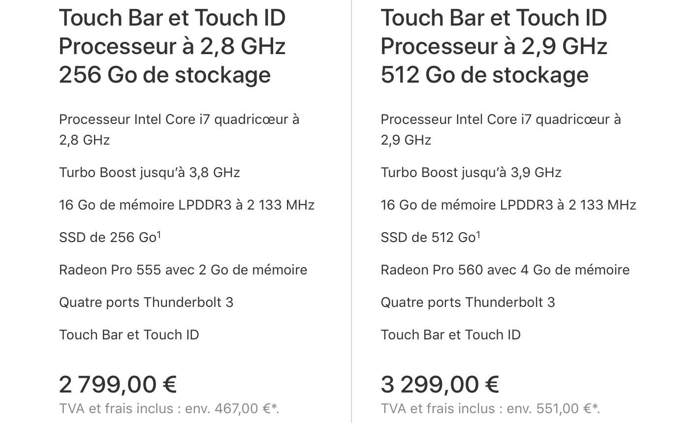 MacBook Pro 15 pouces Apple Store