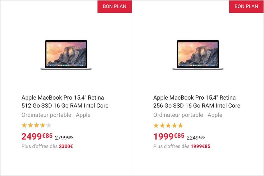 bonplan  les macbook pro en promo a la fnac