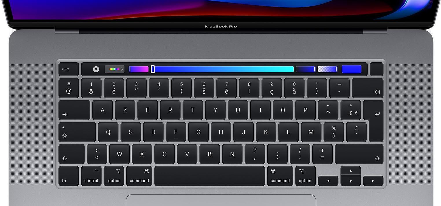 MacBook Pro 16 clavier