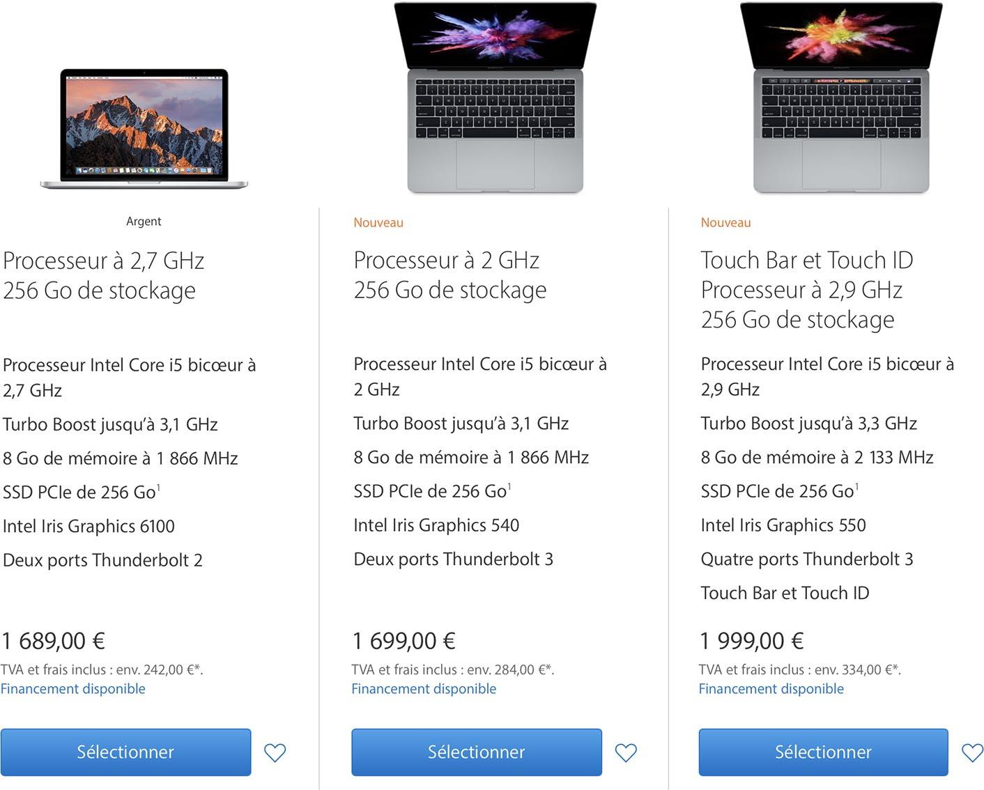 MacBook Pro 2015 ou 2016
