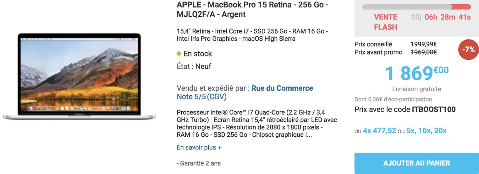 MacBook Pro 2015 Rue du Commerce
