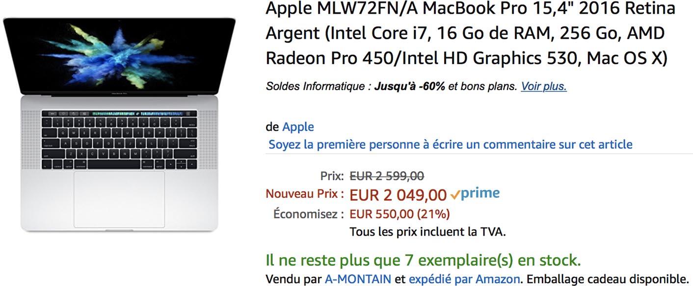 MacBook Pro 2016 promo Amazon