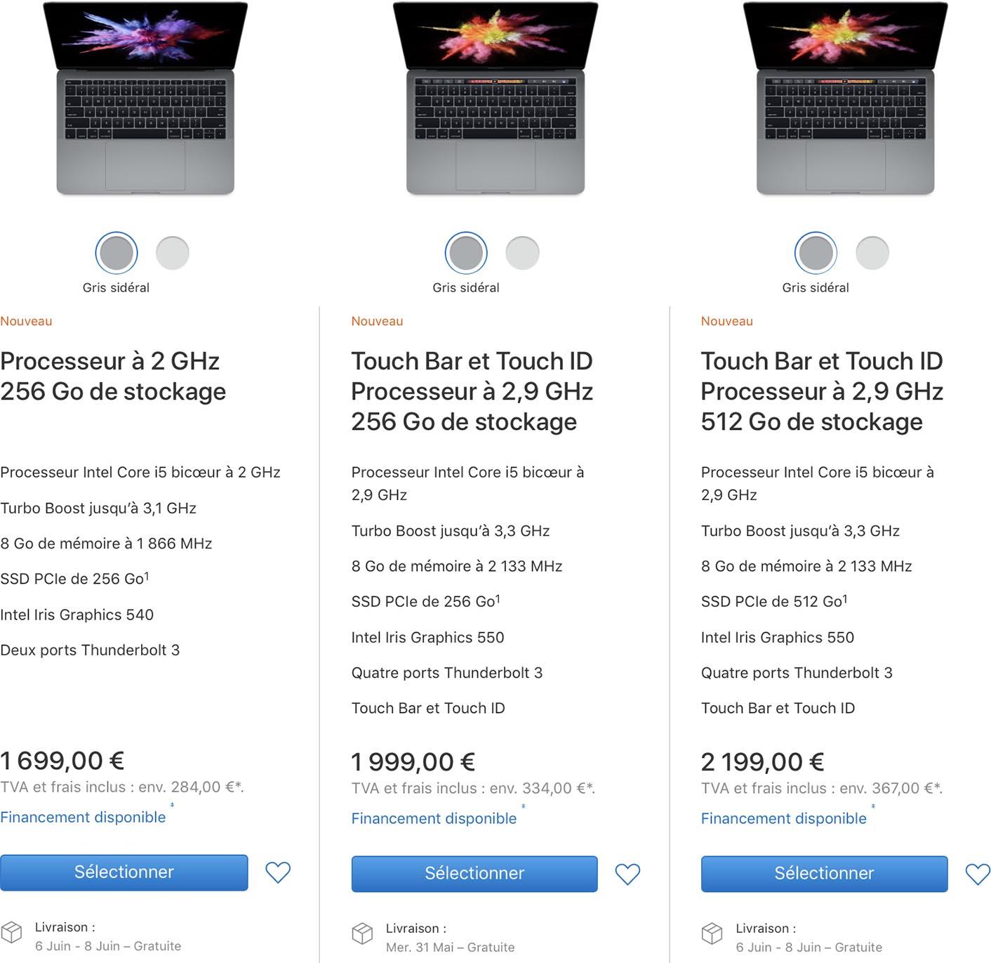 MacBook Pro 2016 délais en hausse