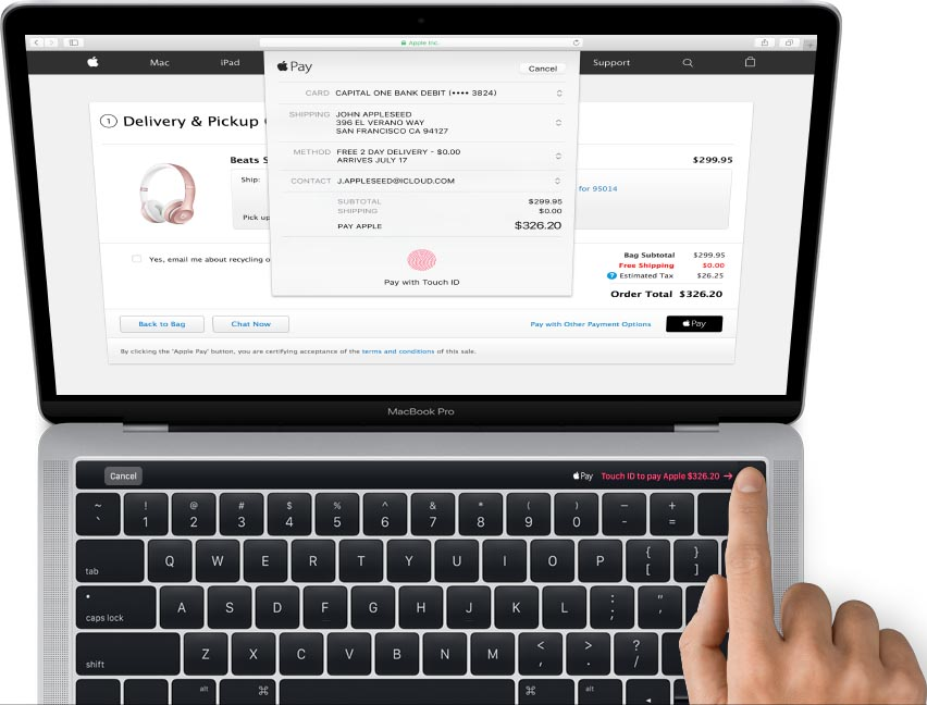 MacBook Pro 2016 photo clavier