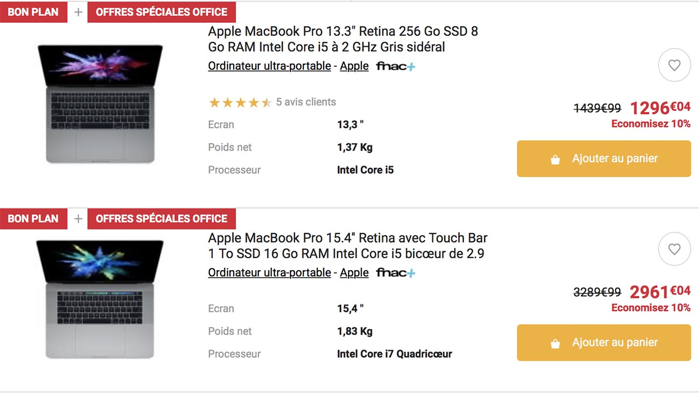 MacBook Pro Refurb Fnac