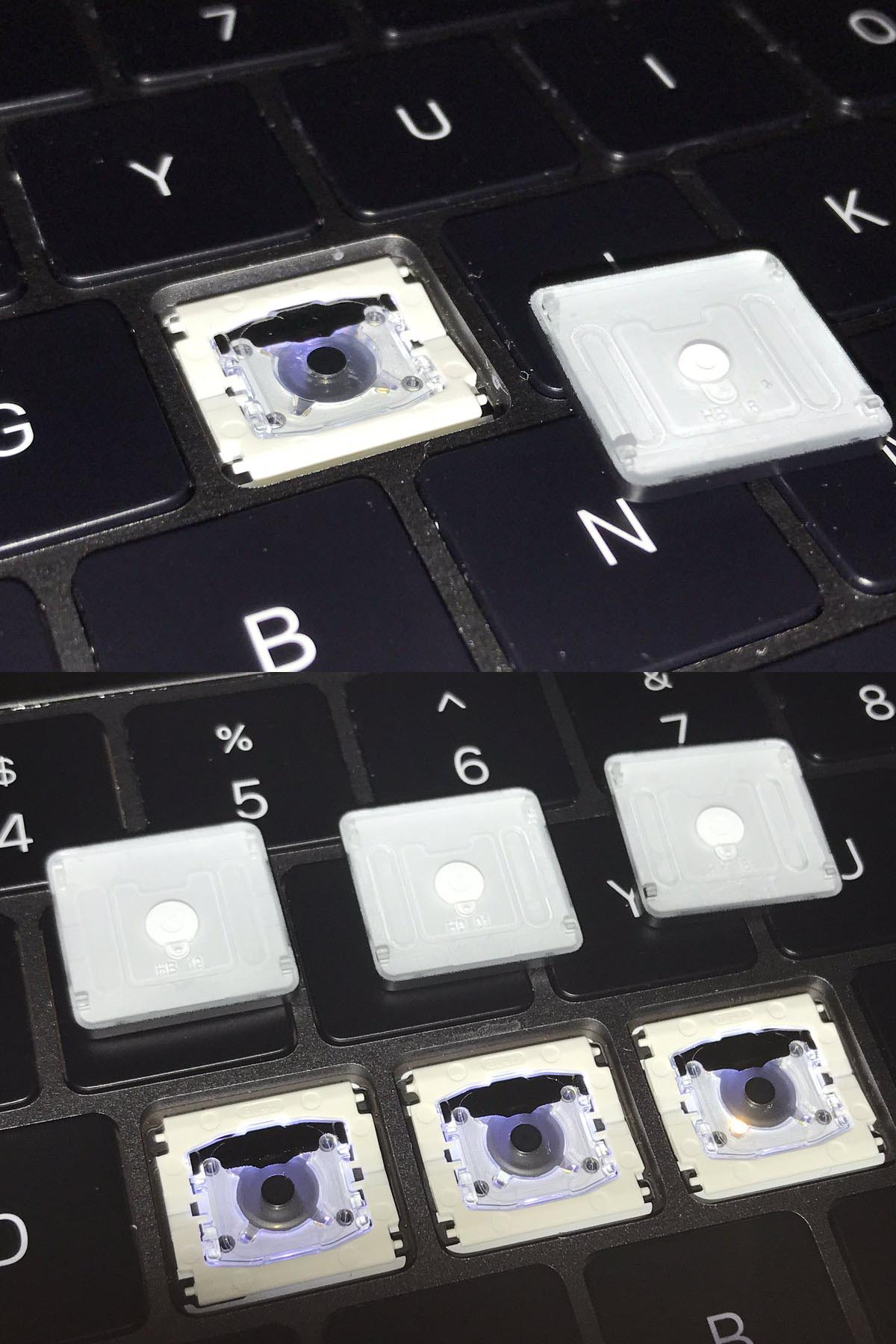 MacBook Pro 2017 touche de clavier