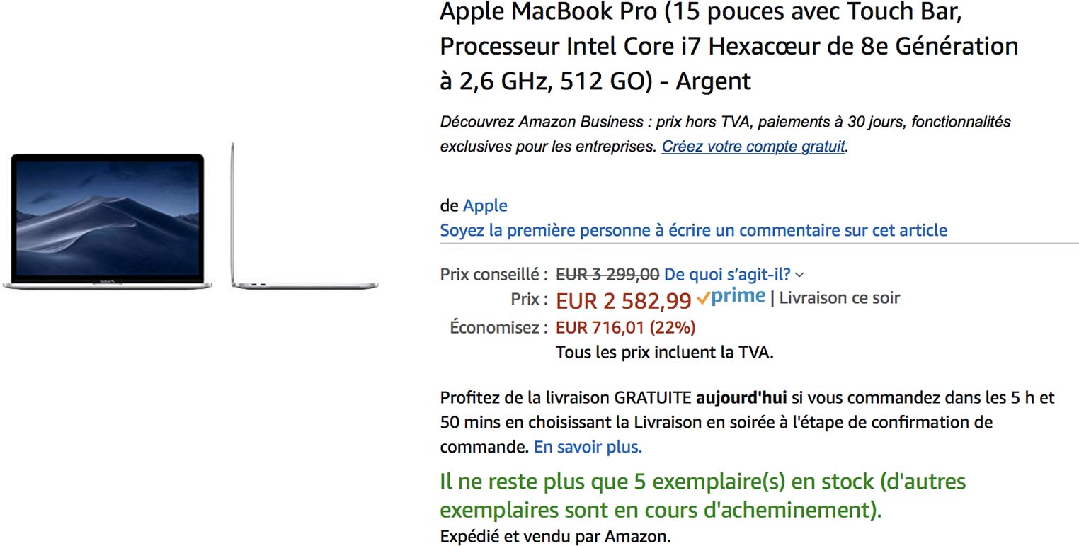 MacBook Pro Amazon