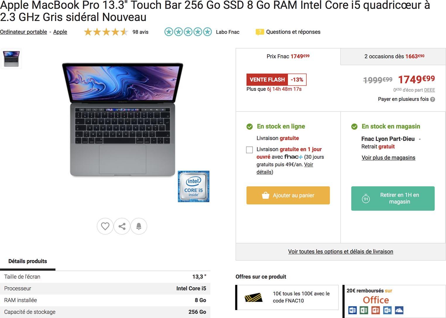 MacBook Pro Fnac