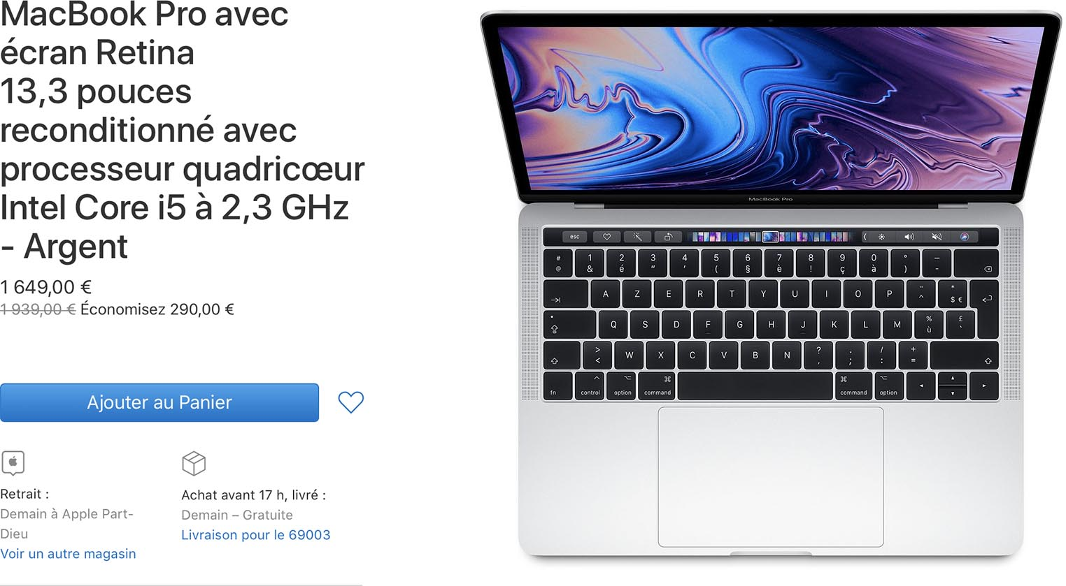 Prix des anciens MacBook Pro en baisse sur le Refurb