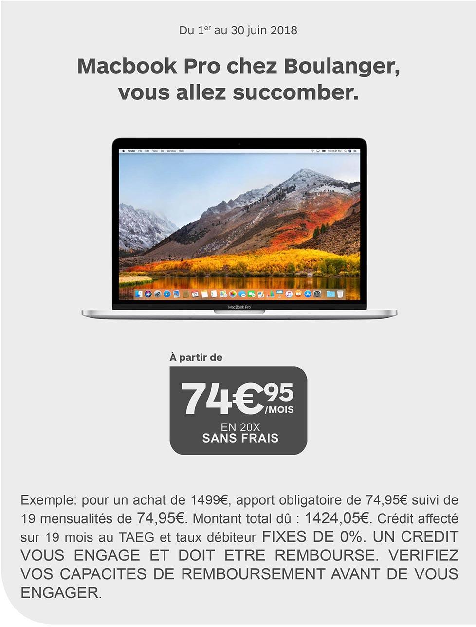 Consomac   Le MacBook Pro en 20 fois sans frais chez Boulanger a237586f442e
