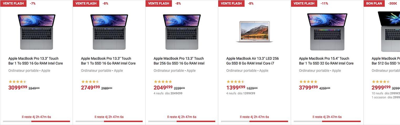 MacBook Pro vente flash Fnac