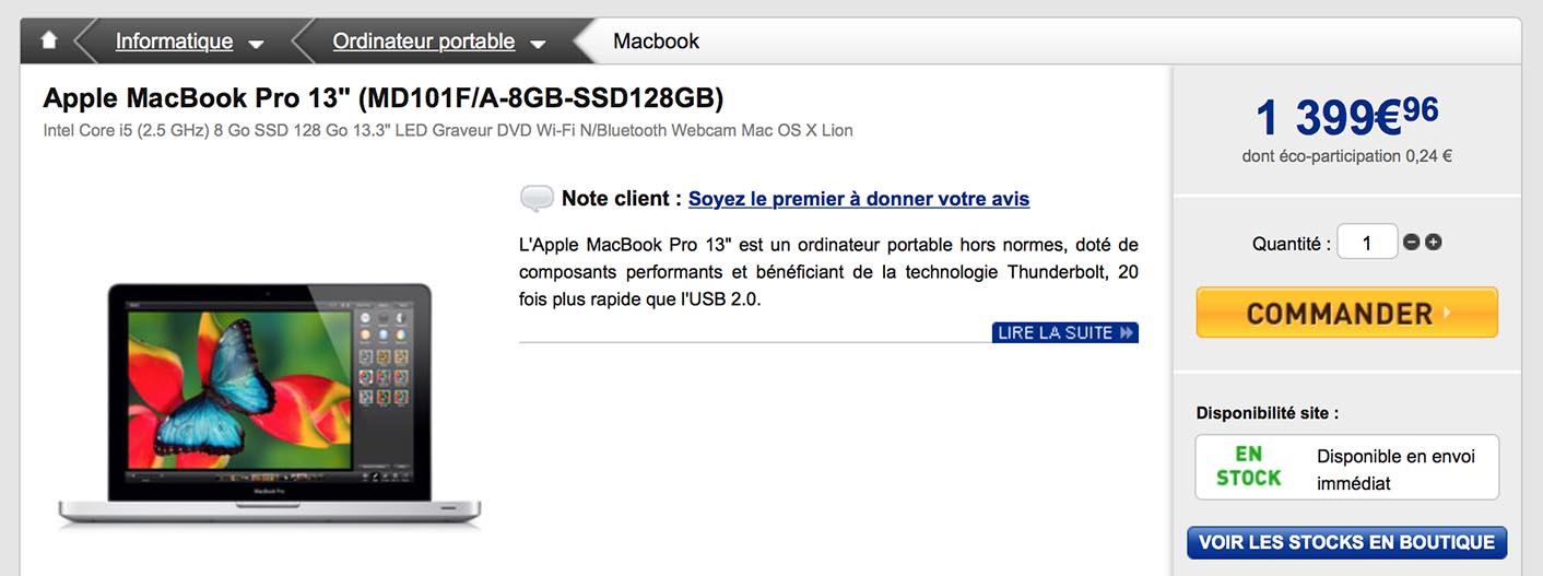 MacBook Pro promo LDLC