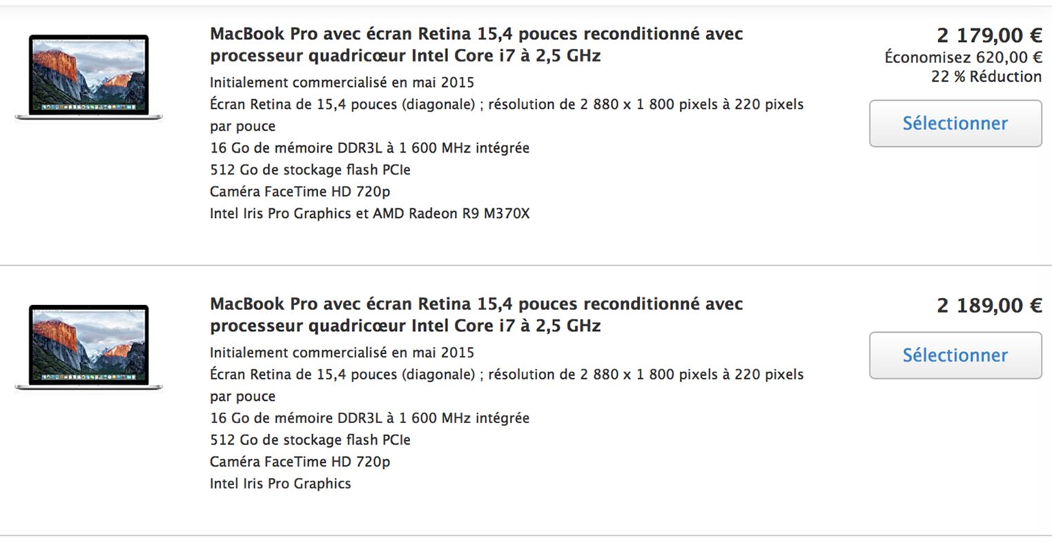MacBook Pro 15 Refurb