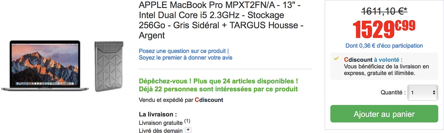 MacBook Pro CDiscount