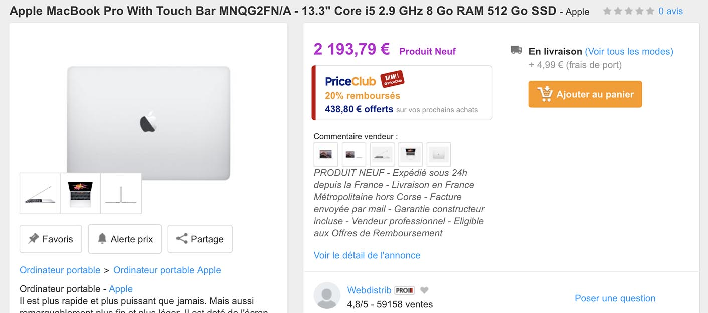 MacBook Pro PriceMinister