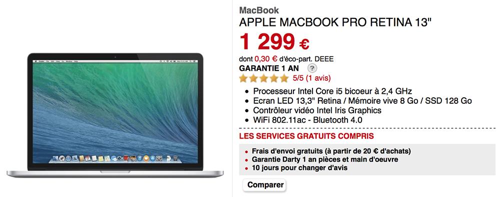 bonplan  macbook pro go de ram offerts