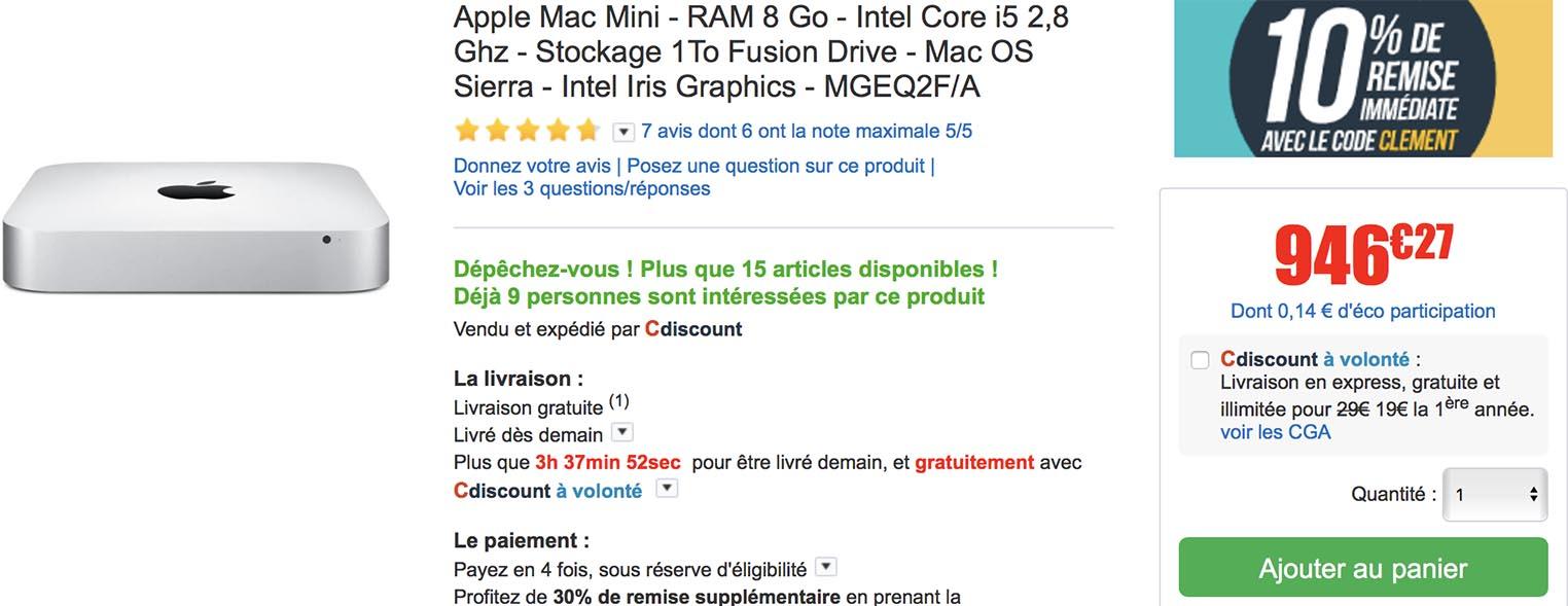 Mac mini CDiscount