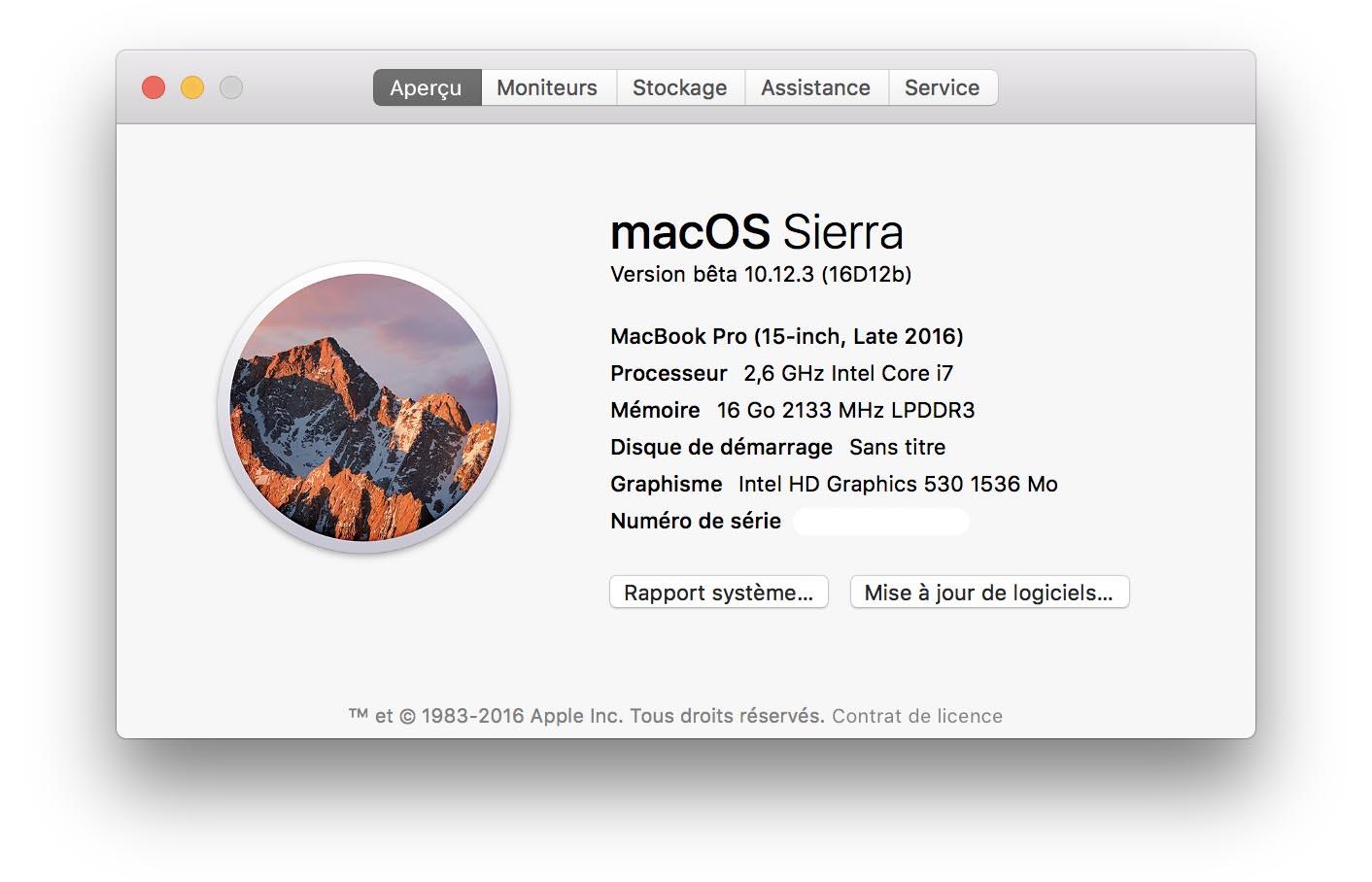 macOS 10.12.3 bêta 1