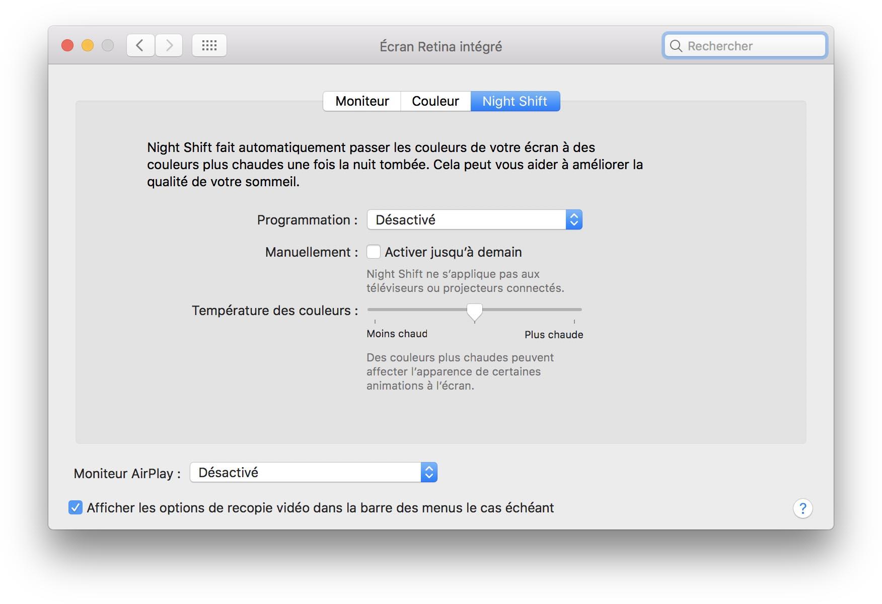 macOS 10.12.4 Night Shift