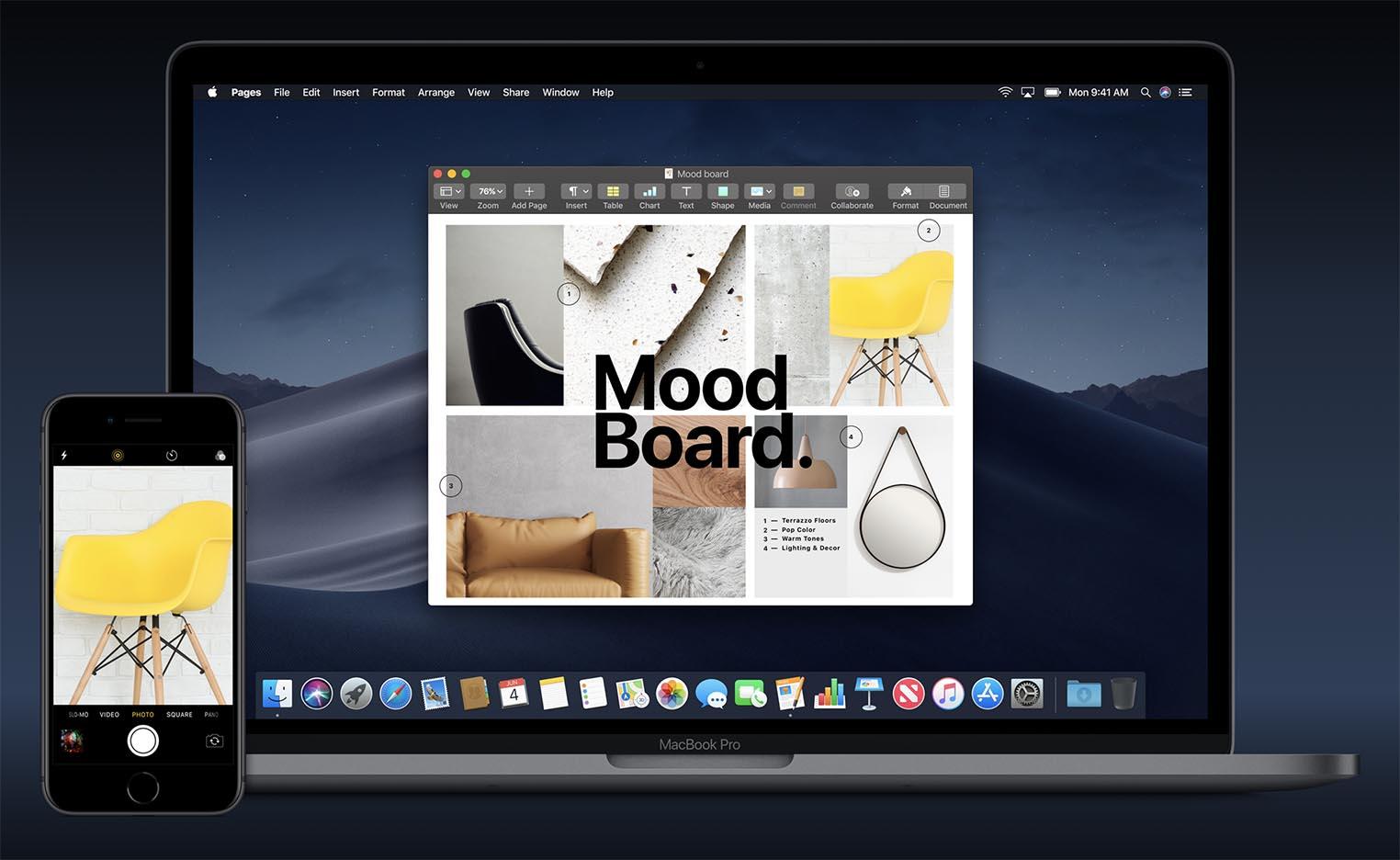 macOS 10.14 Continuité appareil photo