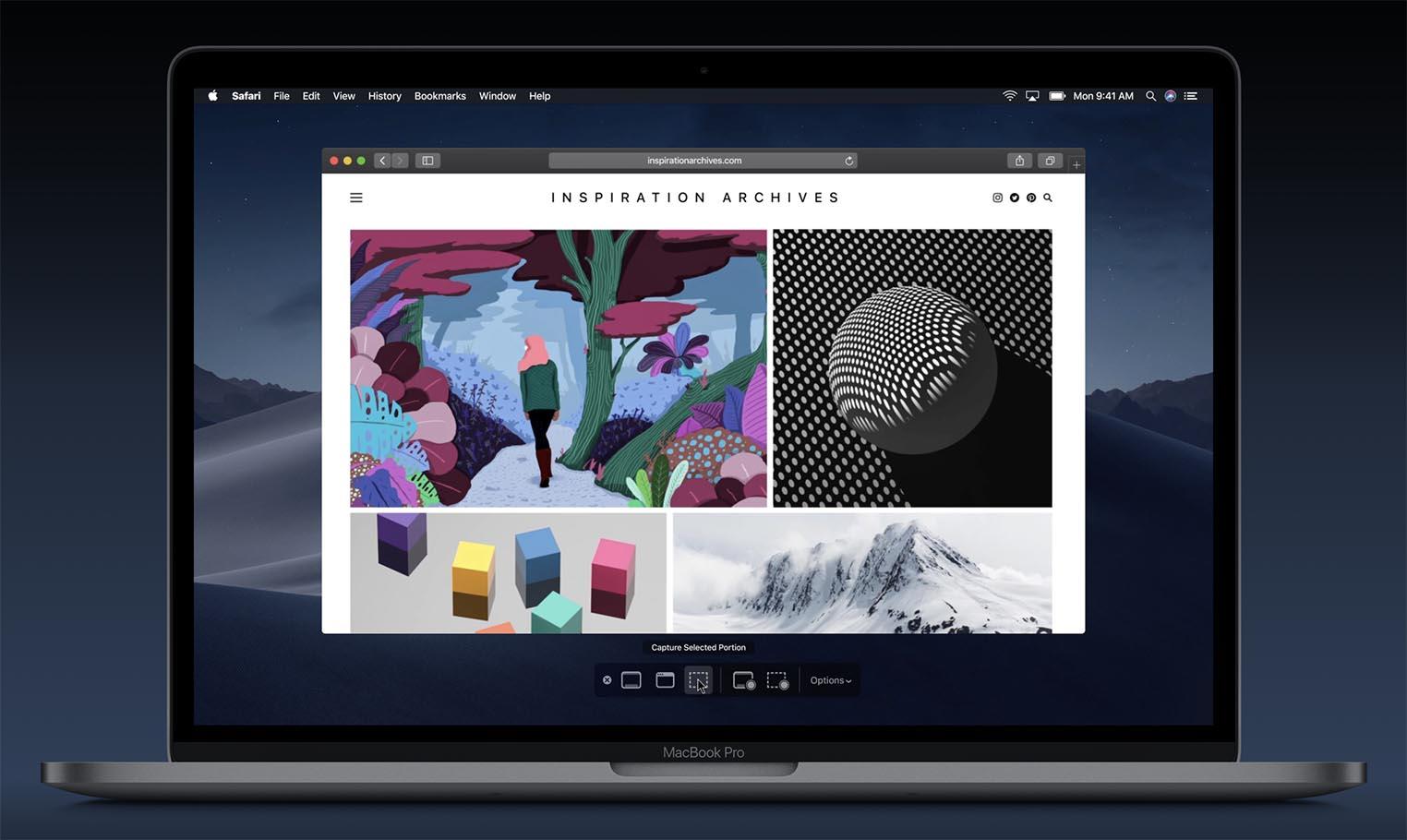 macOS 10.14 Mojave copie d'écran