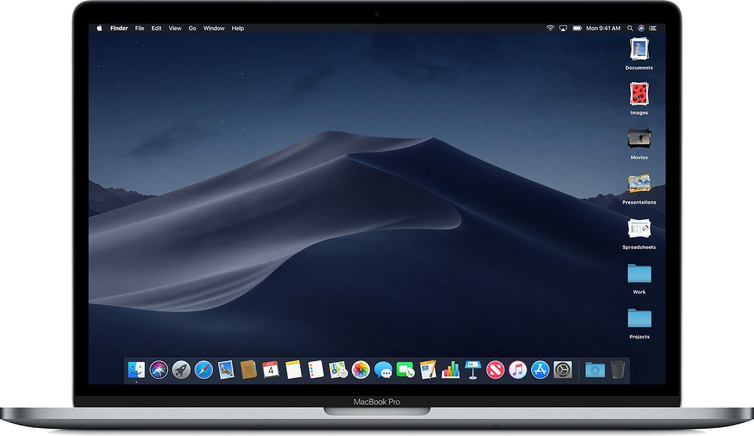 macOS 10.14 Mojave Piles