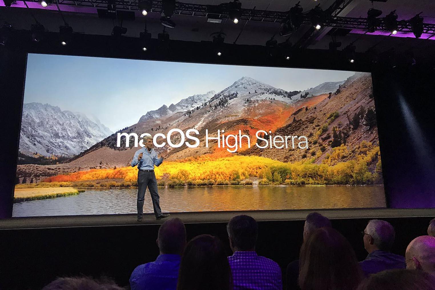 macOS High Sierra Craig Federighi keynote