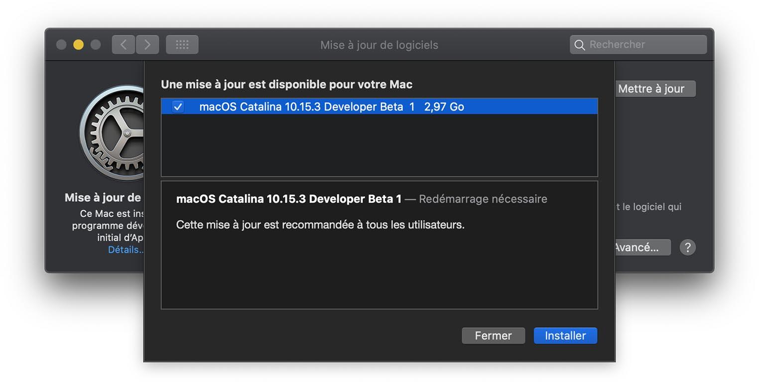 macOS 10.15.3 Catalina Beta 1