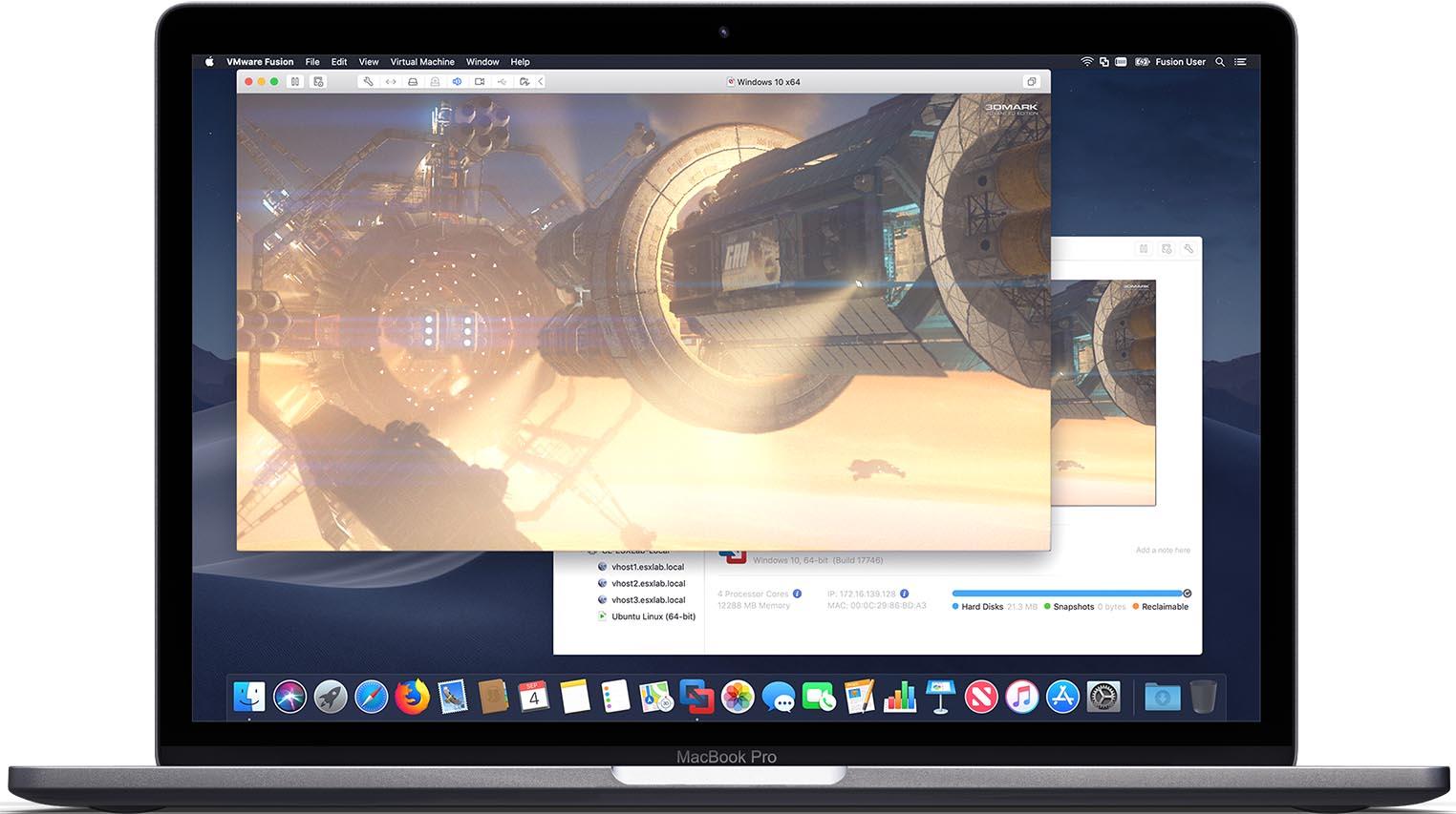 VMWare Fusion MacBook Pro
