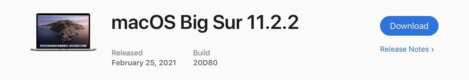 macOS 11.2.2
