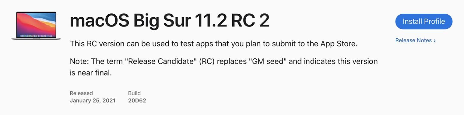 macOS 11.2 RC2