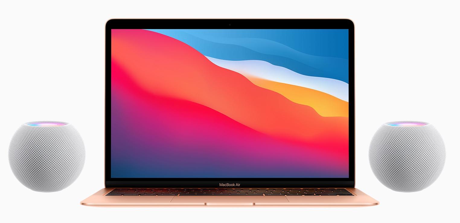 macOS 11.3 paire HomePod stéréo