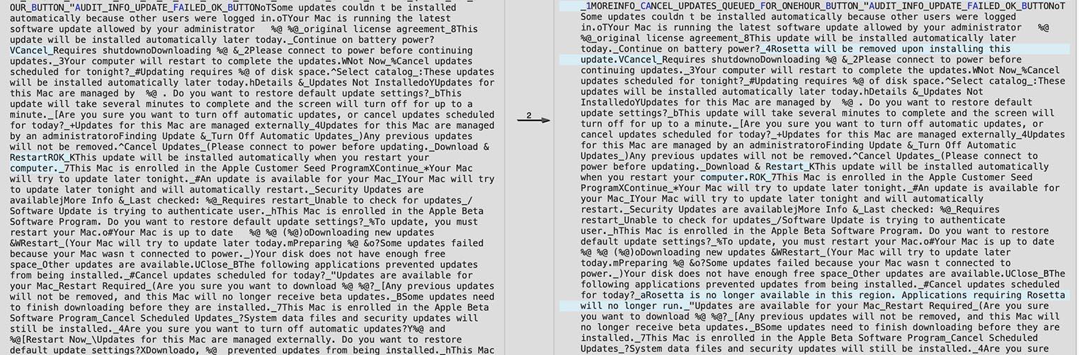 macOS 11.3 Rosetta 2 removed
