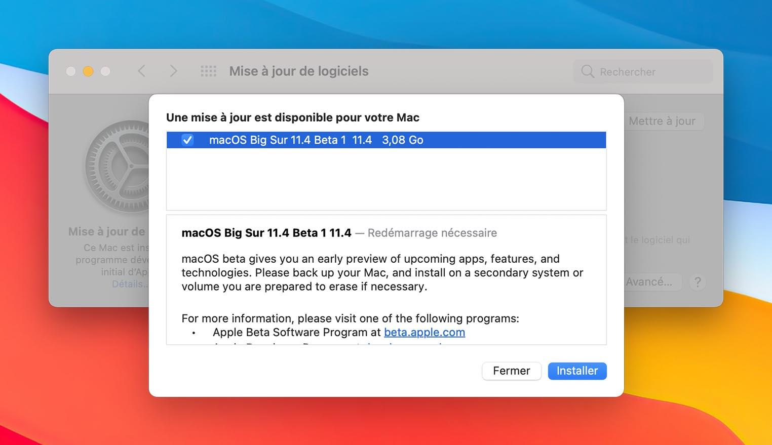 macOS 11.4 Bêta 1