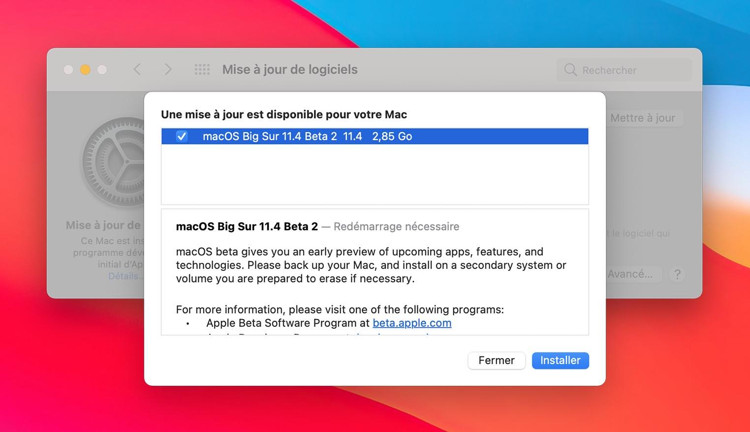 macOS 11.4 Bêta 2