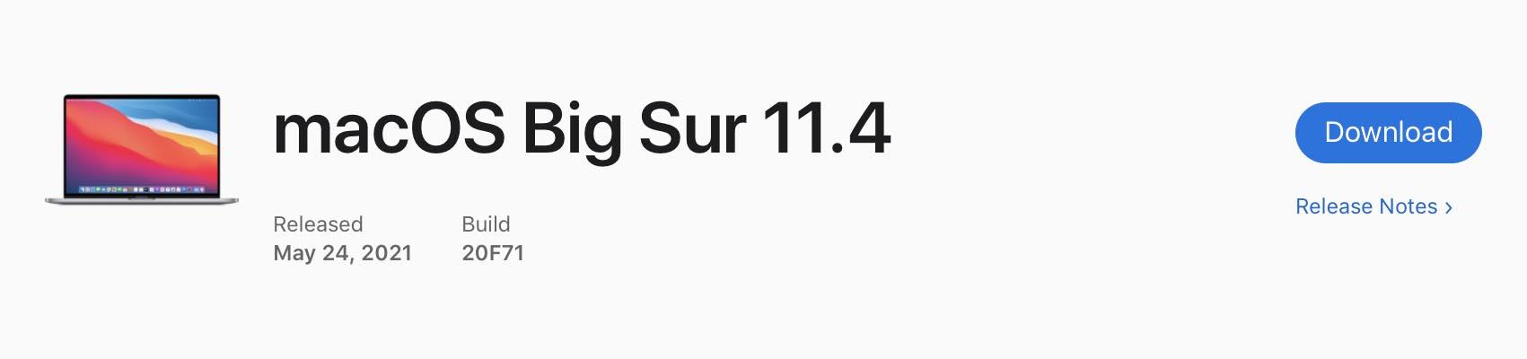 macOS 11.4