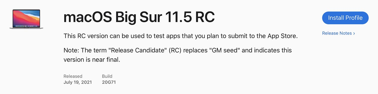 macOS 11.5 RC 2