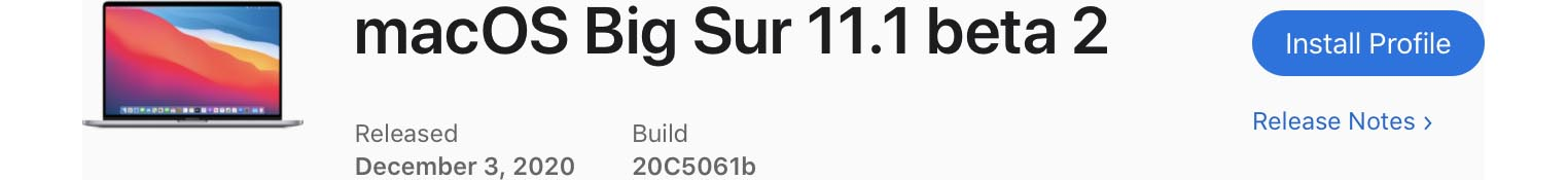 macOS 11.1 Bêta 2