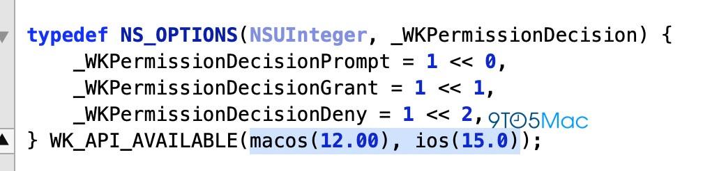 macOS 12 iOS 15 référence WebKit