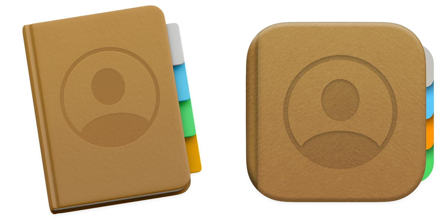 macOS Big Sur icône Carnet d'adresses