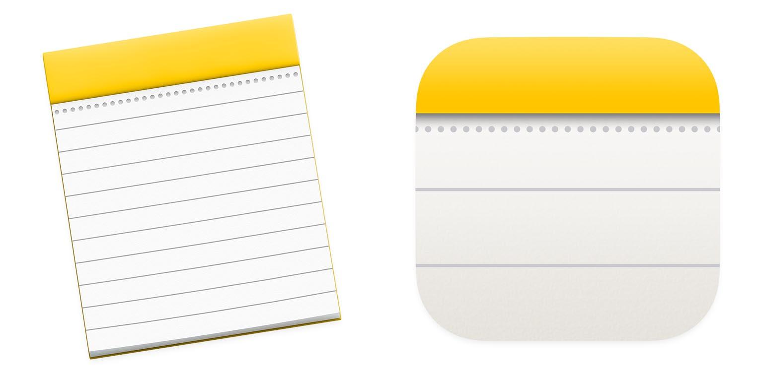 macOS Big Sur icône Notes