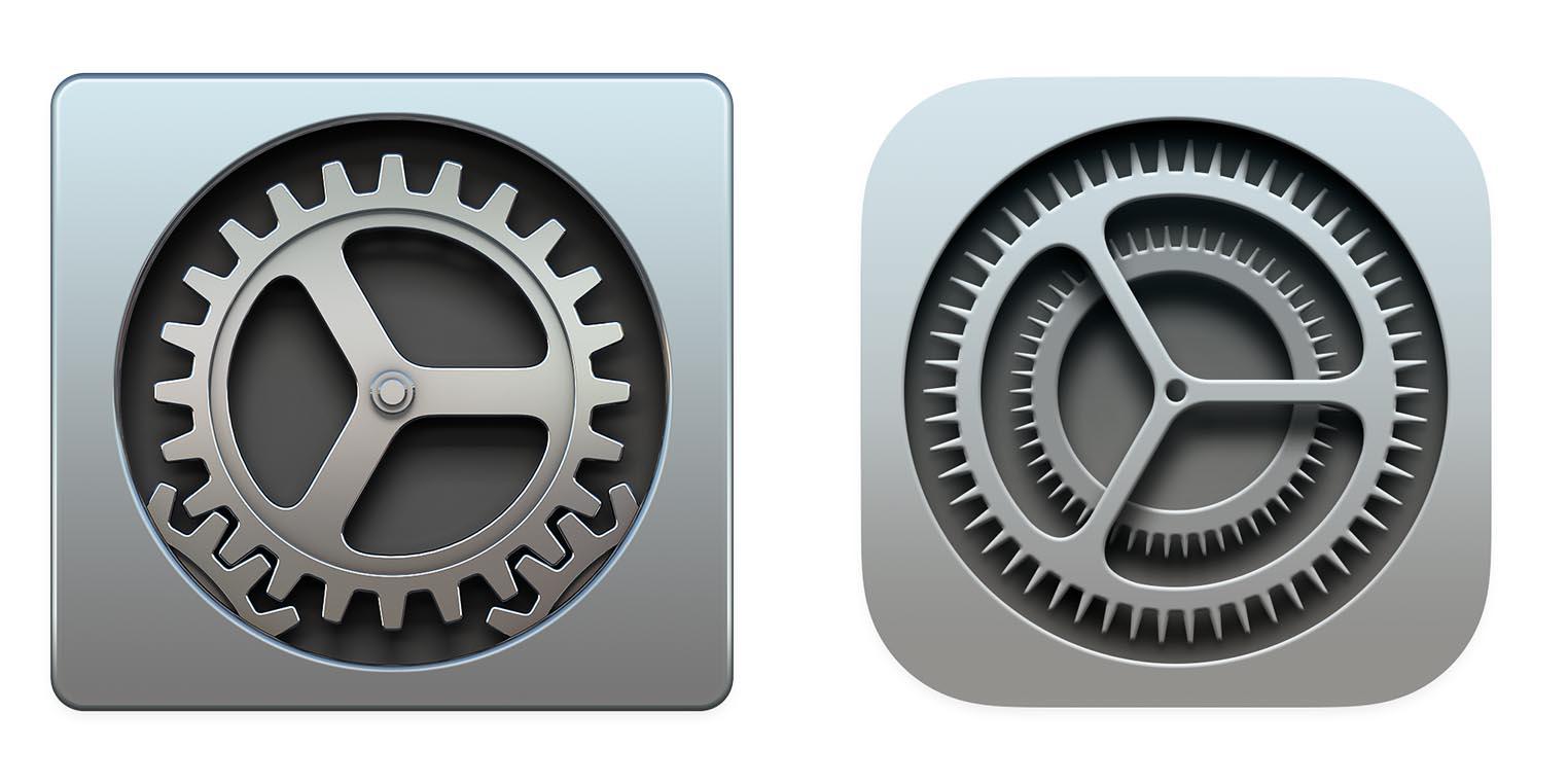 macOS Big Sur icône Préférences Système