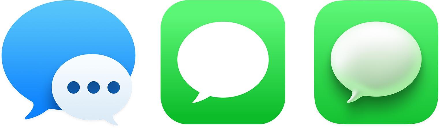 macOS Big Sur icône Messages