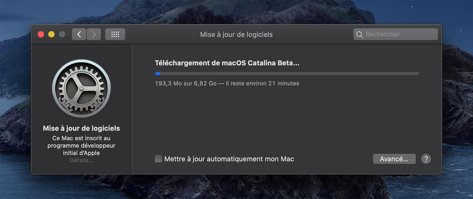 macOS 10.15 Catalina Bêta 4