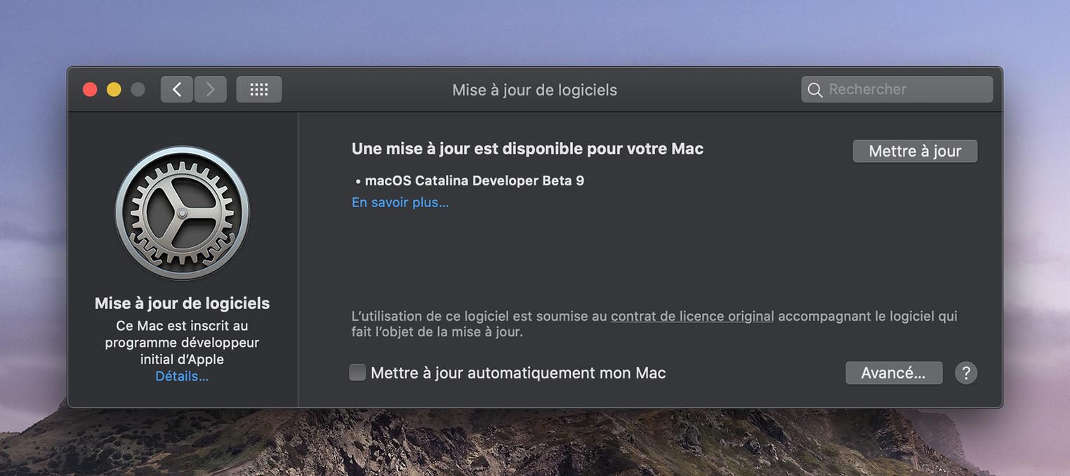 macOS 10.15 Catalina Beta 9