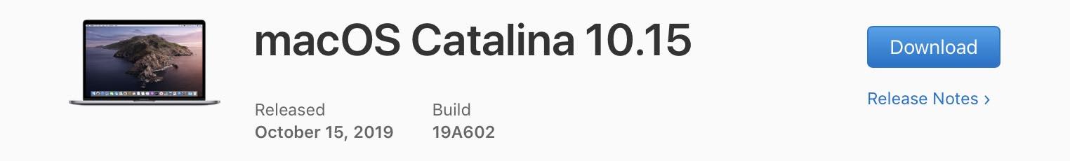 macOS Catalina mise à jour