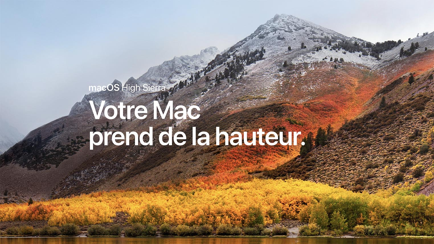 macOS High Sierra disponible